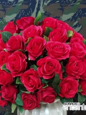 Detalhes do produto Arranjo Rosas Vermelhas GG