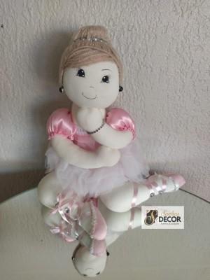 Detalhes do produto Bailarina Rosa - Sentada