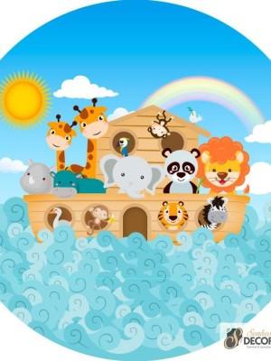 Detalhes do produto Arca de Noé - Tecido para Painel