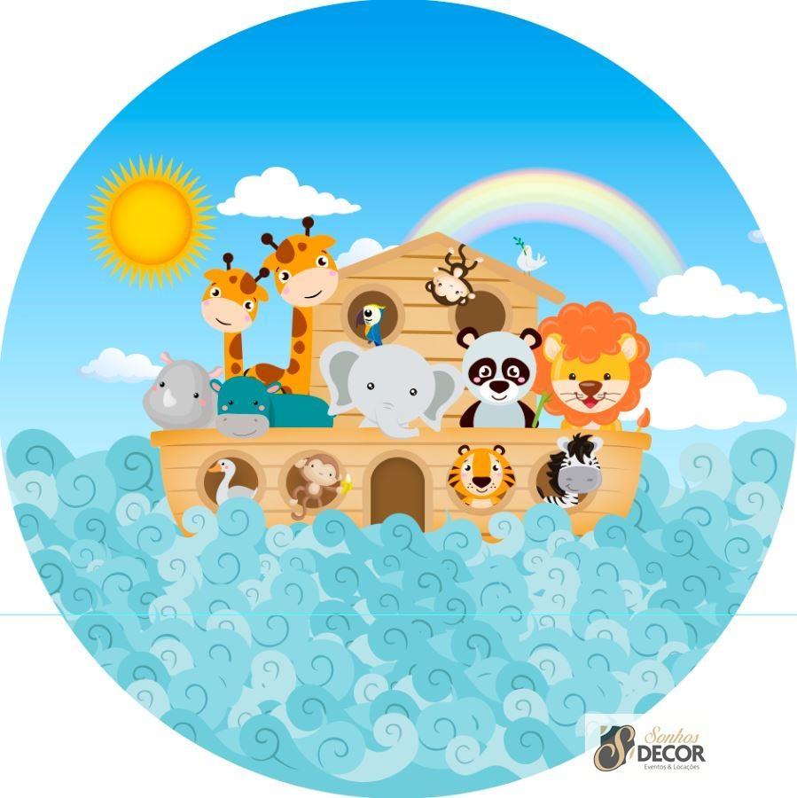 Arca de Noé - Tecido para Painel